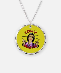 i-DONT-THINK-SO-3-INCH-BUTTO Necklace