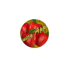 JUICY-APPLE-WOODGRAIN-STADIUM-BLANKET Mini Button