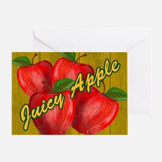 JUICY-APPLE-WOODGRAIN-STADIUM-BLANKE Greeting Card