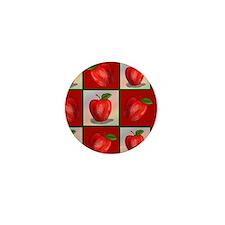 JUICY-APPLE-STADIUM-BLANKET Mini Button