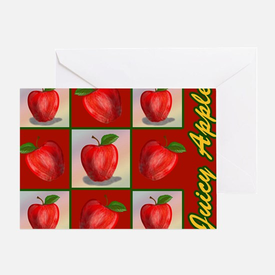 JUICY-APPLE-STADIUM-BLANKET Greeting Card