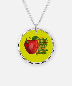 ONE-BAD-APPLE-3-INCH-BUTTON Necklace