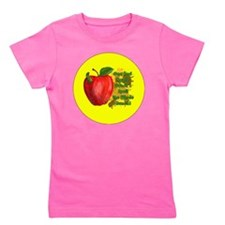 ONE-BAD-APPLE-3-INCH-BUTTON Girl's Tee