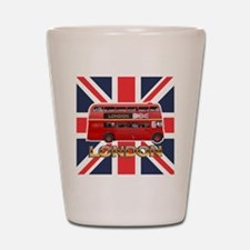 London Bus Shot Glass