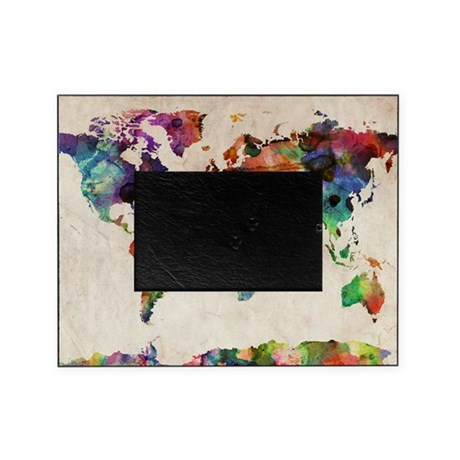 world map urban watercolor 14x10 picture frame by admin cp21786311. Black Bedroom Furniture Sets. Home Design Ideas