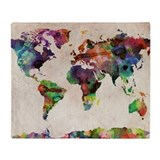 Map Fleece Blankets