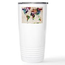 World Map Urban Watercolor 14x1 Thermos Mug