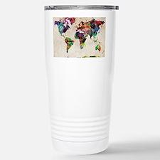 World Map Urban Watercolor 14x1 Travel Mug