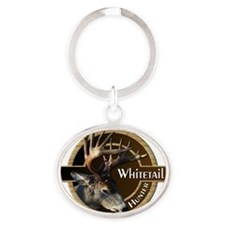 Whitetail Deer Oval Keychain