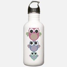 owls three tower Water Bottle