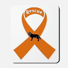 rescueribbondark Mousepad