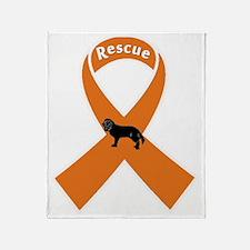 rescueribbondark Throw Blanket