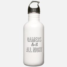 Gamers Do It All Night Water Bottle