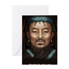 5X8 Genghis Khan Journal Greeting Card
