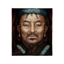 14X10 Genghis Khan Print Throw Blanket