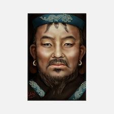 14X10 Genghis Khan Print Rectangle Magnet