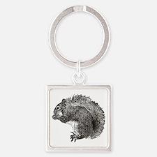 Squirrel3_v2 Square Keychain
