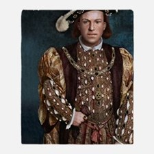 14X10 Young Henry VIII Print Throw Blanket