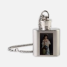 16X20 Margaret Brown Print Flask Necklace