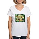 Chicks For Christmas! Women's V-Neck T-Shirt