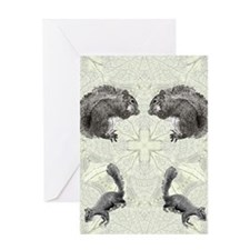 Squirrel FlipFlops Greeting Card