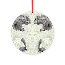 Squirrel FlipFlops Round Ornament