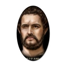 23X35 Philip II of Macedon P 35x21 Oval Wall Decal