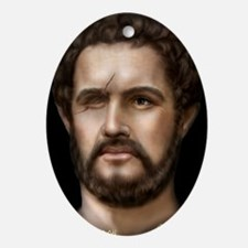 14X10 Philip II of Macedon Print Oval Ornament