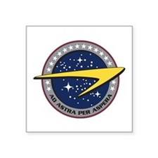 ENTERPRISE Starfleet Square Sticker 3''X3''