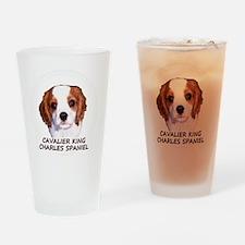 cavaliercircleTEXTfordark Drinking Glass