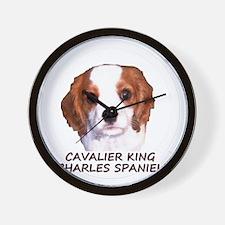 cavaliercircleTEXTfordark Wall Clock