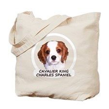 cavaliercircleTEXTfordark Tote Bag