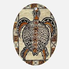 Tapa Turtle Oval Ornament