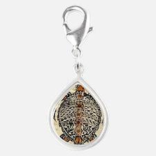 Tapa Turtle Silver Teardrop Charm