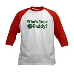 Who's Your Paddy Kids Baseball Jersey