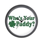 Who's Your Paddy Wall Clock