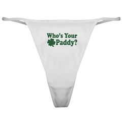 Who's Your Paddy Classic Thong