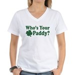 Who's Your Paddy Women's V-Neck T-Shirt