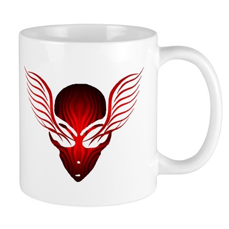 On the Wings of Aliens Red Stripe Mug