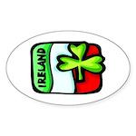 Ireland Flag Shamrock Oval Sticker