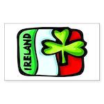 Ireland Flag Shamrock Rectangle Sticker