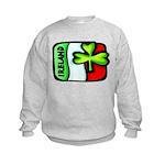 Ireland Flag Shamrock Kids Sweatshirt