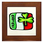 Ireland Flag Shamrock Framed Tile