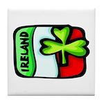 Ireland Flag Shamrock Tile Coaster