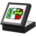 Ireland Flag Shamrock Keepsake Box