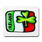 Ireland Flag Shamrock Mousepad