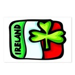 Ireland Flag Shamrock Postcards (Package of 8)