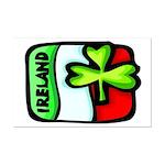 Ireland Flag Shamrock Mini Poster Print