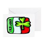 Ireland Flag Shamrock Greeting Cards (Pk of 10