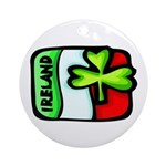 Ireland Flag Shamrock Ornament (Round)